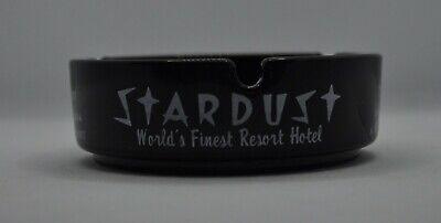 Vintage Stardust Resort Casino Hotel Las Vegas Nevada Black Glass Ashtray