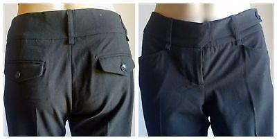 BCBG Max Azria Womens 31x32 Monique Black Ankle Zipper Stretch Work Pants Size 2