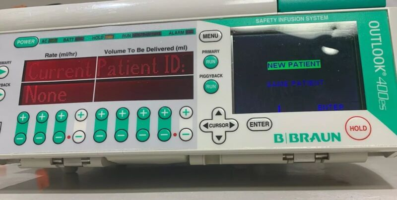 B. Braun Outlook 400es IV Pump Patient Ready, FREE & FAST Shipping