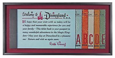 Vintage Disneyland Tickets Memorabilia   Jumbo Size 3D Ticket Book Shadow Box