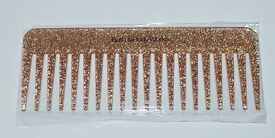 NEW BATH & BODY WORKS GOLD GLITTER HAIR COMB BRUSH SPARKLY W