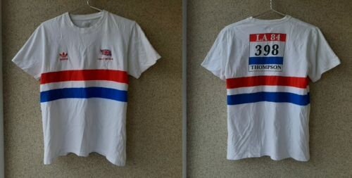 TEAM GB DALEY THOMPSON LA 84 OLYMPIC GAMES GREAT BRITAIN ADIDAS JERSEY SIZE L