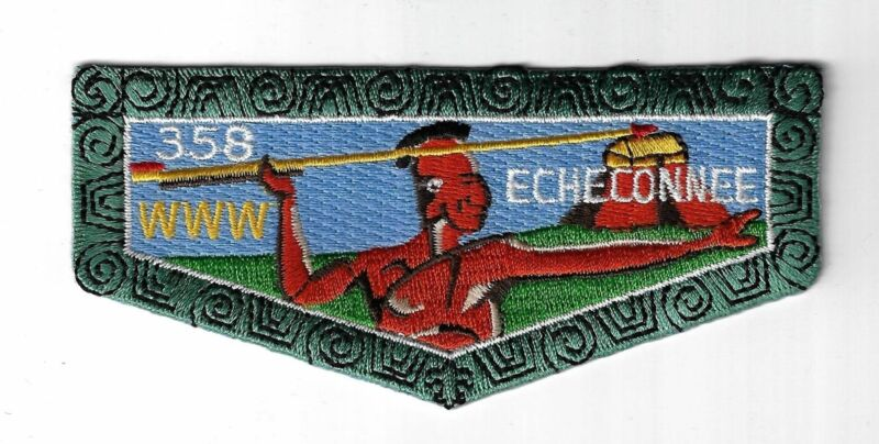 OA 358 Echeconnee  Flap LBL Bdr. Central Georgia, GA [MX-654]