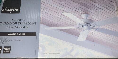 52 weatherproof outdoor tri mount ceiling fan