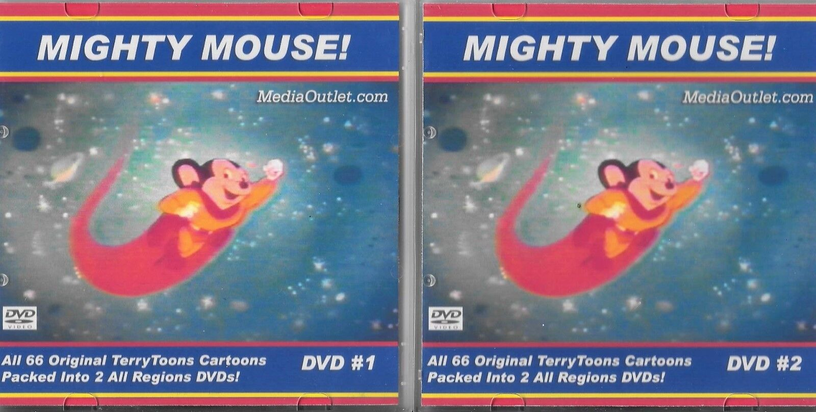 Mighty Mouse All 66 Original Terry Toons Cartoon DVDs - $26.99
