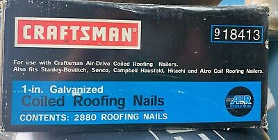 Rare Craftsman 18413 1 2880 Galvanized Coiled Roofing Nails Air Drive Nailers