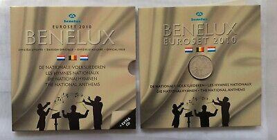 COFFRET SET EURO COIN BENELUX 2010 - 8 PIECES X3 BENELUX + PIECE ARGENT