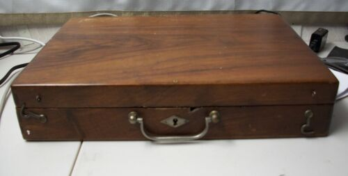 ANTIQUE VICTORIAN ERA Mahogany Artist's PAINTER Traveling Box
