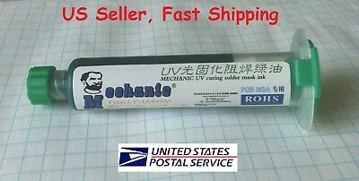 Pcb Uv Curable Solder Mask Repairing Paint Green 10ml - Us Seller Fast Shipping