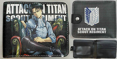Anime Attack On Titan Levi Wallet  USA SELLER!!! FAST SHIPPING!