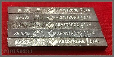 "Armstrong Tools #86-393 High-Speed Steel Tool Bit - M-2 - 1/4"" Square - Lot of 5"