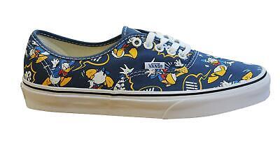 Vans Authentic x Disney Donald Duck Mens Shoes Lace Up Plimsolls Blue 18BGZ0