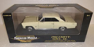 ERTL American Muscle 1966 Chevy Nova SS 1:18 Scale Diecast Model Car 33335 lemon