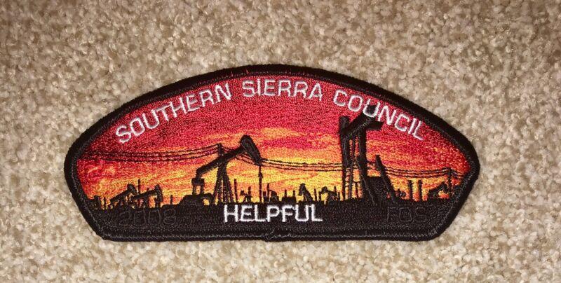 Boy Scout Southern Sierra Council FOS Helpful Blk Csp / SAP Bakersfield CA Mint