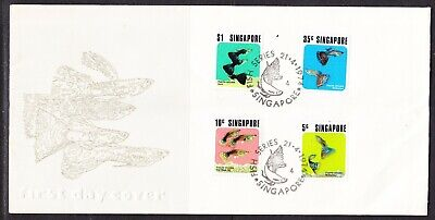 Singapore 1974 Tropical Fish First Day Cover Unaddressed