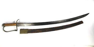 American Revolutionary War Hanger - Sword, Partial Scabbard, 1775-1785
