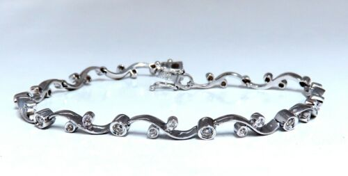 .65ct Natural Diamonds Ivy Vine Linked Bracelet 18 Karat