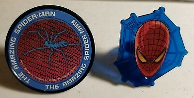 12 SUPERHERO SPIDERMAN CUPCAKE TOPPER RINGS - PARTY FAVORS  - Spiderman Cupcake Topper