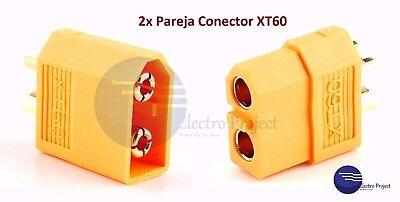 4x Conector Batería XT60 [2 M+ 2 H] 60A // Radiocontrol Drone Avión Robot