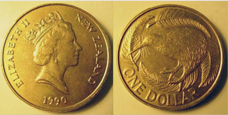 New Zealand 1990 1 Dollar Uncirculated (KM78)