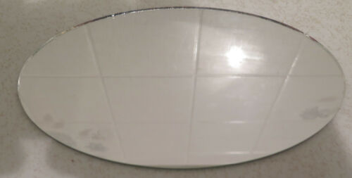 Lot of 5 Craft Hobby Oval Glass Mirrors 7 1/2 x 4 1/2 Wedding