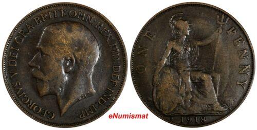 Great Britain George V 1918 H 1 Penny Ralph Heaton & Sons, Birmingham KM# 810