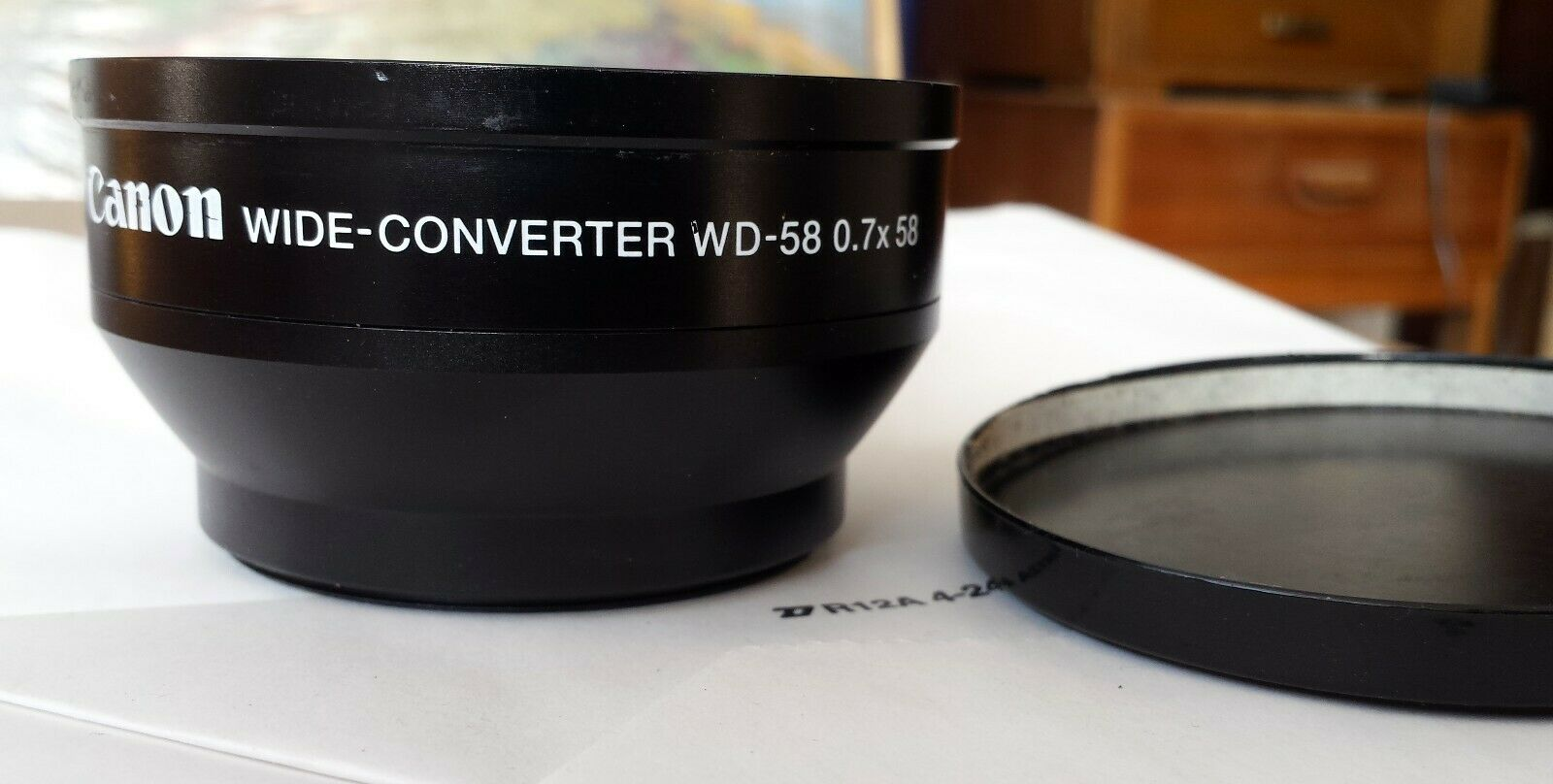 Canon WD-58 Wide Angle Converter WD58 Lens .7x Adapter Lens 58mm Thread - $49.00
