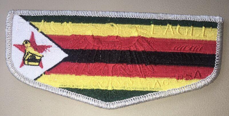Boy Scout Black Eagle Lodge 482 Zimbabwe country flap Transatlantic Council