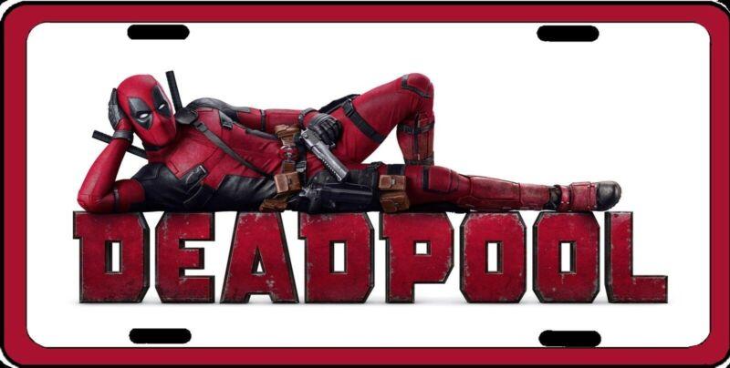 Deadpool Photo Logo Marvel Officially Licensed Aluminum License Plate Sign NEW