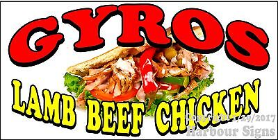 Choose Your Size Gyros Lamb Beef Chicken Decal Food Truck Sticker Concession