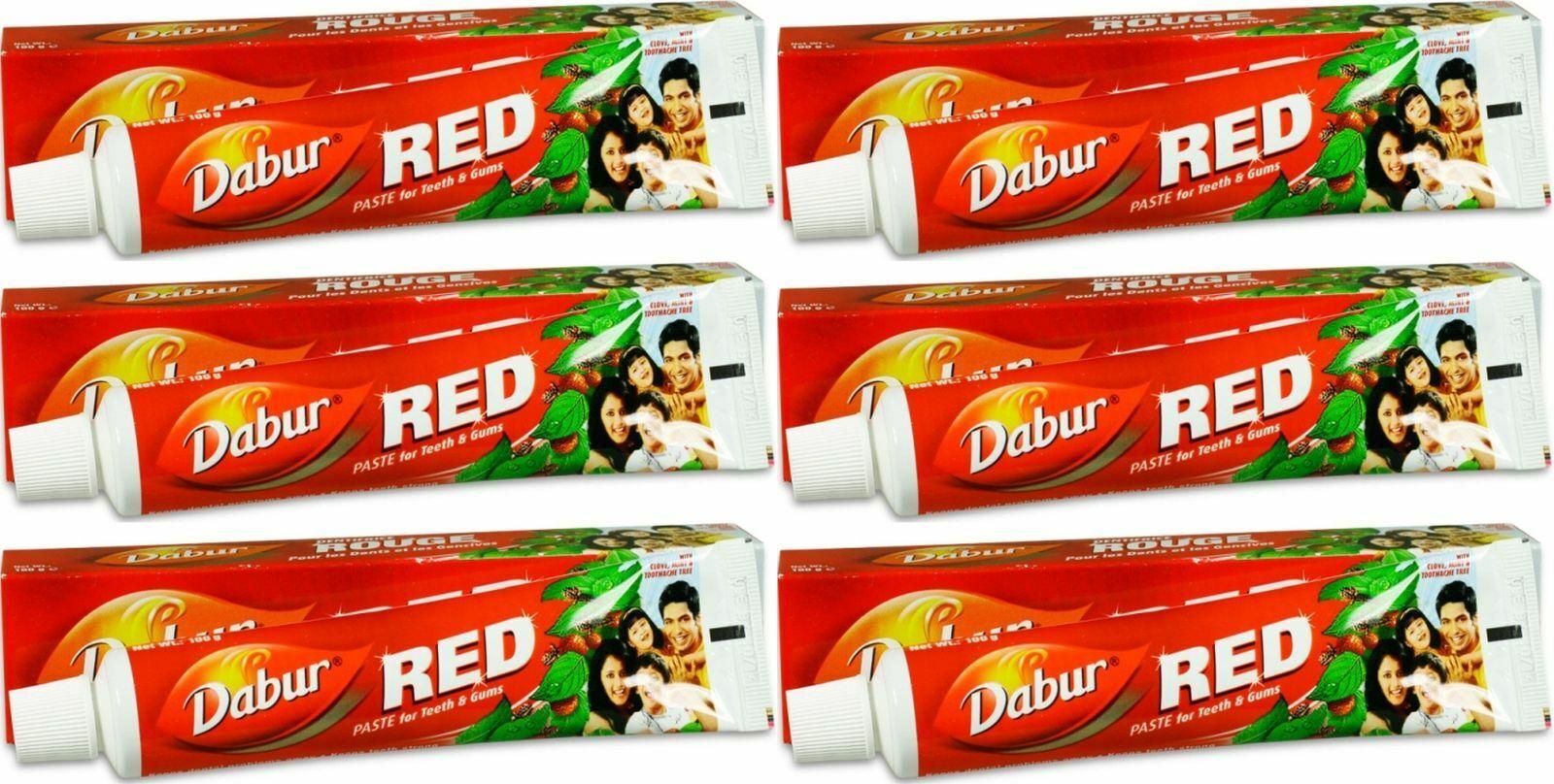 Dabur rote Zahnpasta Zahncreme Ayurvedische Kräuterextra Toothpast red Paste