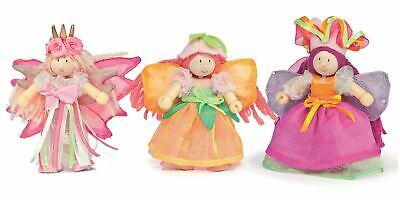Traditional Wooden Toys (Le Toy Van TRADITIONAL TOYS GARDEN FAIRY TRIPLE PACK Wooden Toy)