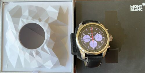 Montblanc Summit 2 Original Box Smartwatch - Steel Case, Black Leather Band