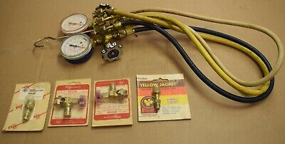 J B Industries Hvac 2 Valve Manifold And Hoses And Fittings