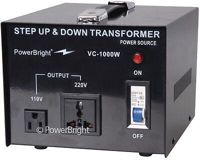 Powerbright 1000 Watt Voltage Transformerconverter 110-220 Volt Step Up Down