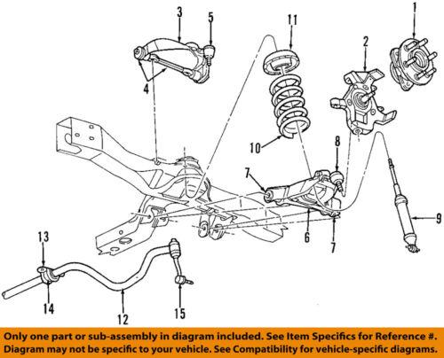 Dodge Chrysler Oem 01 04 Dakota Front Suspension Hub 52009528ae Ebay