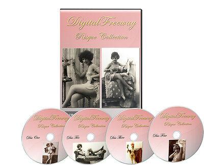 17,000 Vintage Victorian Risque, Burlesque Postcard Nude Photos On 4 CDs