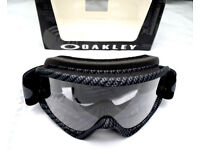 New Adult Oakley O Frame Tear Off Goggles Motocross Enduro Carbon Clear Lens