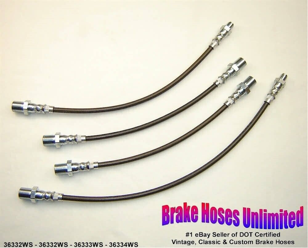 STAINLESS BRAKE HOSE SET Scout 1964 1965, 4x4