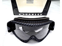 New Youth Kids Oakley XS O Frame Goggles Motocross Carbon BMX Downhill Tear Off
