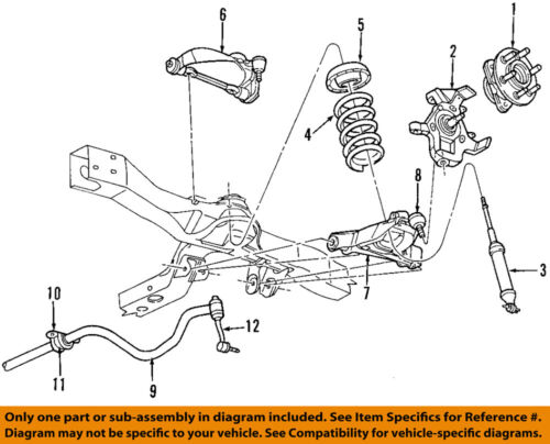 Dodge Chrysler Oem 99 03 Durango Front Suspension Coil Spring 52039246 Ebay