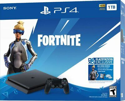 Sony - PlayStation 4 1TB Fortnite Neo Versa Console Bundle - Jet Black