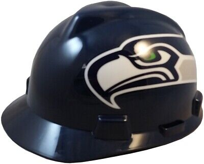 Seattle Seahawks Msa Nfl Hard Hat With One Touch Suspension