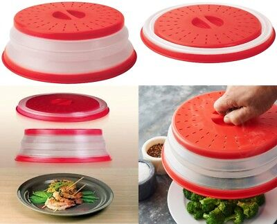 Collapsible Microwave Plate Cover Lid Food Dish Splatter Shield Guard BPA Free