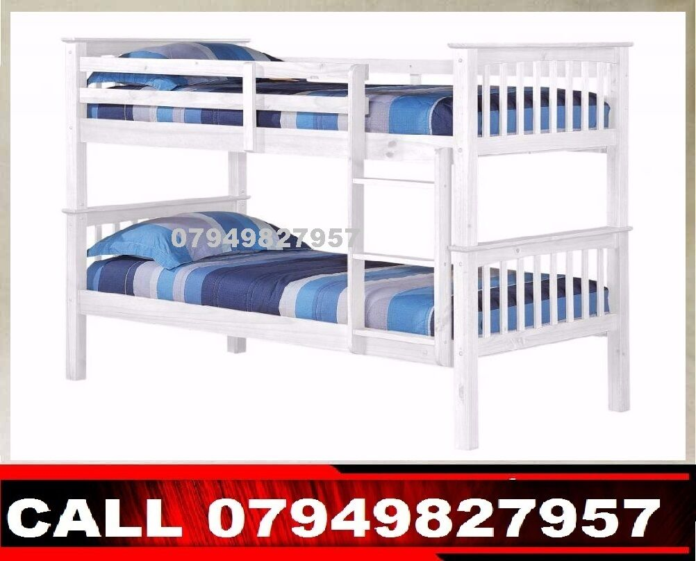 caniry WOODEN bunk BED USE AS A SINGLE BEDin Watford, HertfordshireGumtree - CONDITION BRAND NEWBUNK BED PRICE 149BUNK BED WITH MATTRESS 219WE CAN DELIVER THAT TO YOU