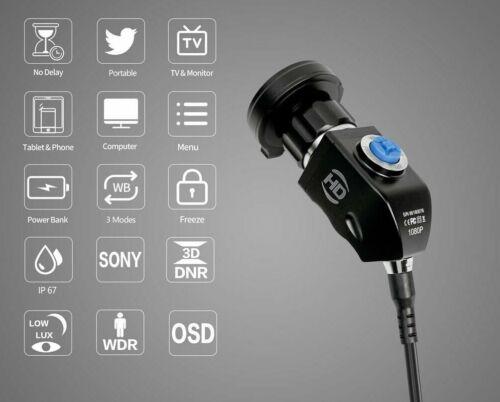 HD 1080P Endoscopy Camera Endoscope Borescope USB3.0 Dual HDMI PC MAC Phone