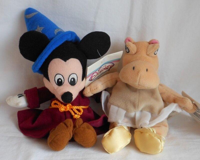 1d4f2e03079 DISNEY STORE FANTASIA HIPPO Bean Bag SORCERER MICKEY MOUSE BEAN BAG PLUSH  Toy