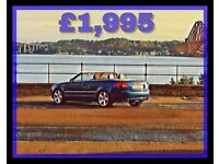 AUDI A4 CABRIOLET SPORT / LOW MILES / OFFERS / CONVERTIBLE / QUICK SALE /NO PX OR SWAP BMW MERCEDES
