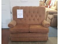 Parker Knoll Classic Button Back 2 Seat Sofa and Footstool, Delivery Possible