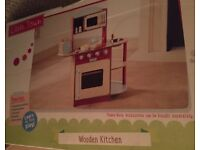 Brand new in box toy wooden play kitchen